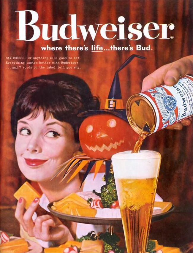 Vintage Halloween Ad - Budweiser