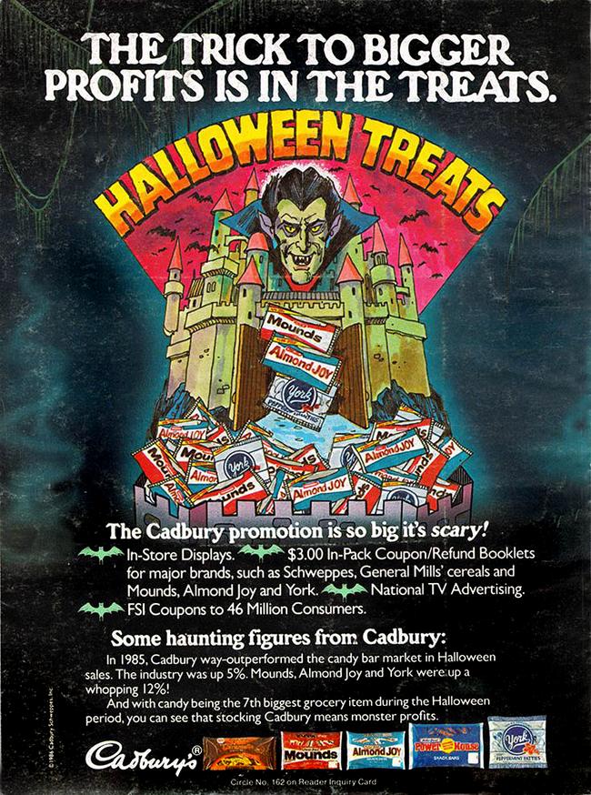 Vintage Halloween Ad - Cadbury Promotion