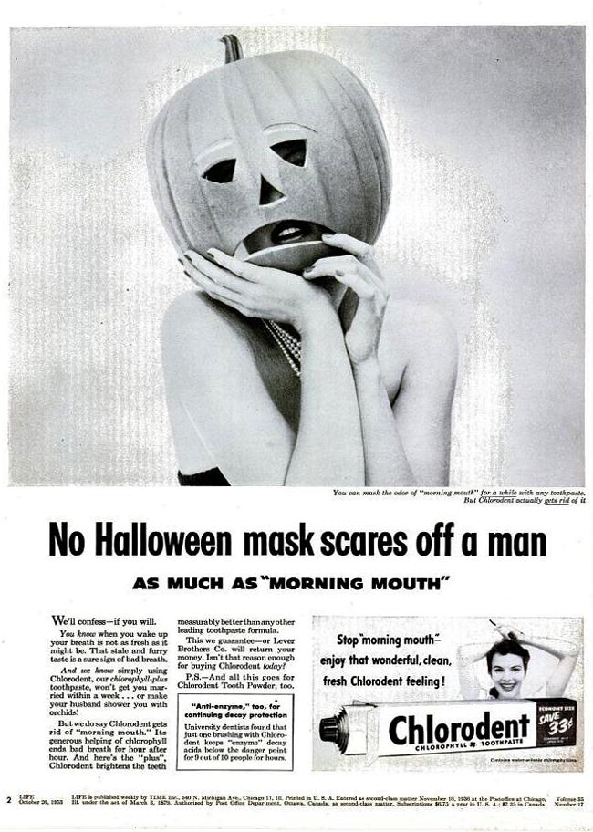 Vintage Halloween Ad - Chlorodent