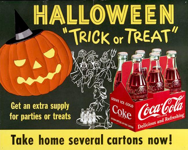 Vintage Halloween Ad - Coca Cola