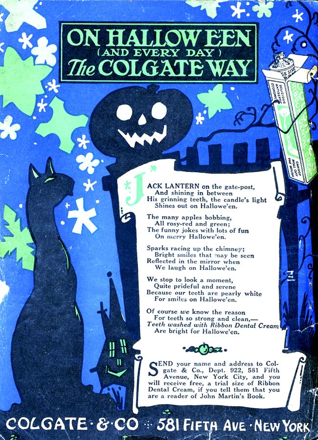 Vintage Halloween Ad - Colgate