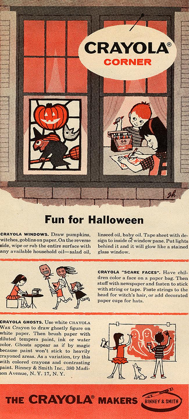 Vintage Halloween Ad - Crayola