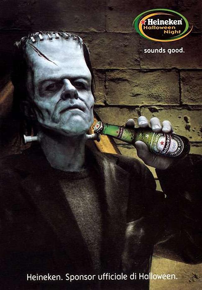 Vintage Halloween Ad - Heineken