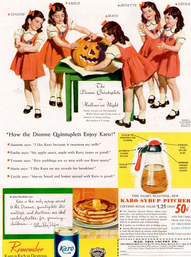Vintage Halloween Ad - Karo Syrup