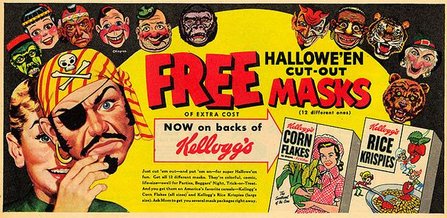 Vintage Halloween Ad - Kellogs