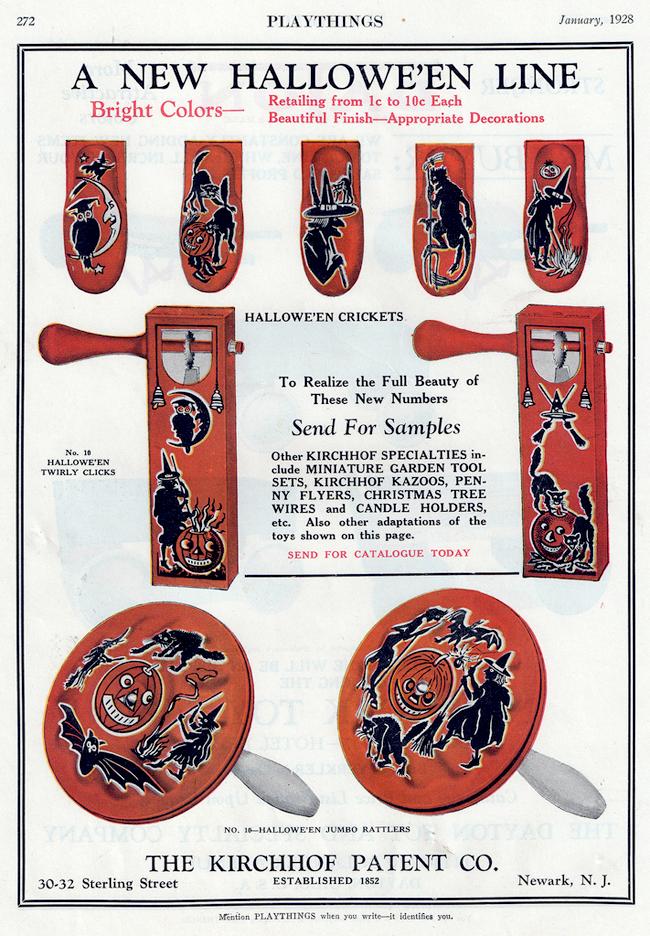 Vintage Halloween Ad - Kirchhof Patent Co.