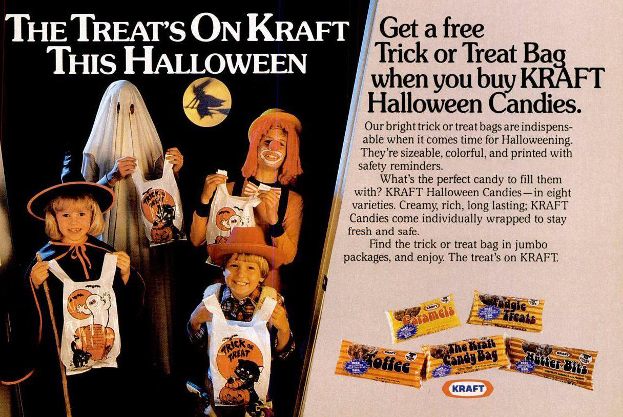 Vintage Halloween Ad - Kraft