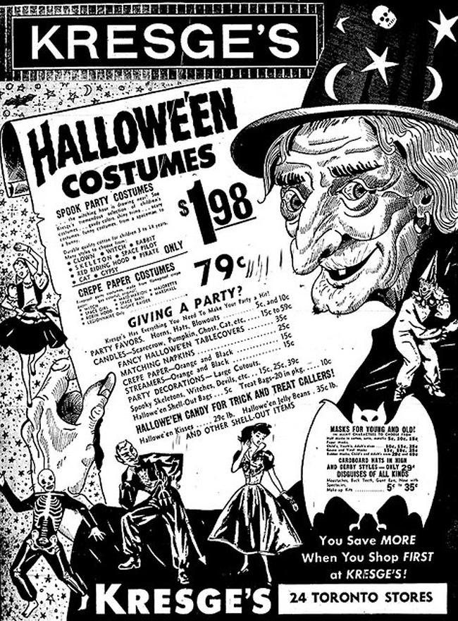 Vintage Halloween Ad - Kresge's