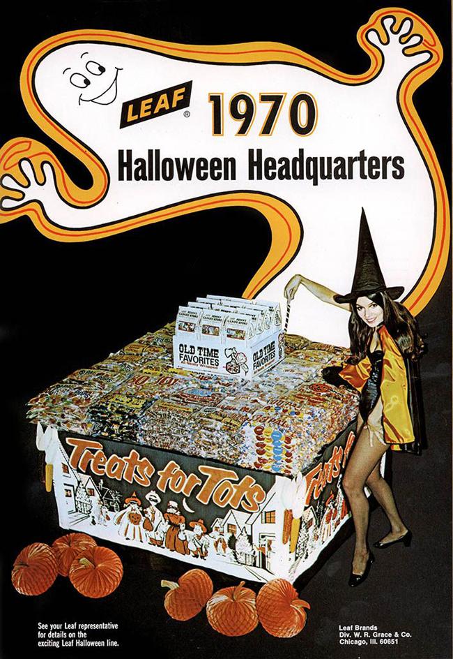 Vintage Halloween Ad - Leaf 1970 Halloween Headquarters