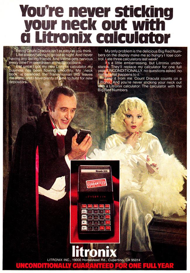 Vintage Halloween Ad - Litronix