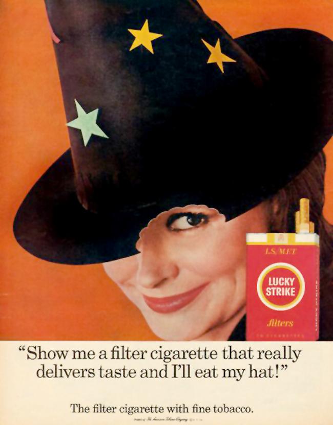 Vintage Halloween Ad - Lucky Strike