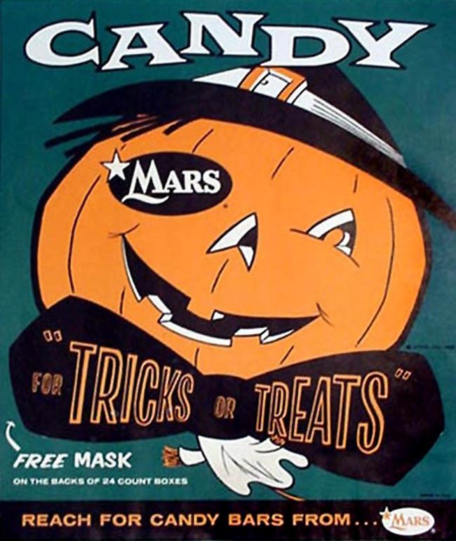 Vintage Halloween Ad - Mars Candy