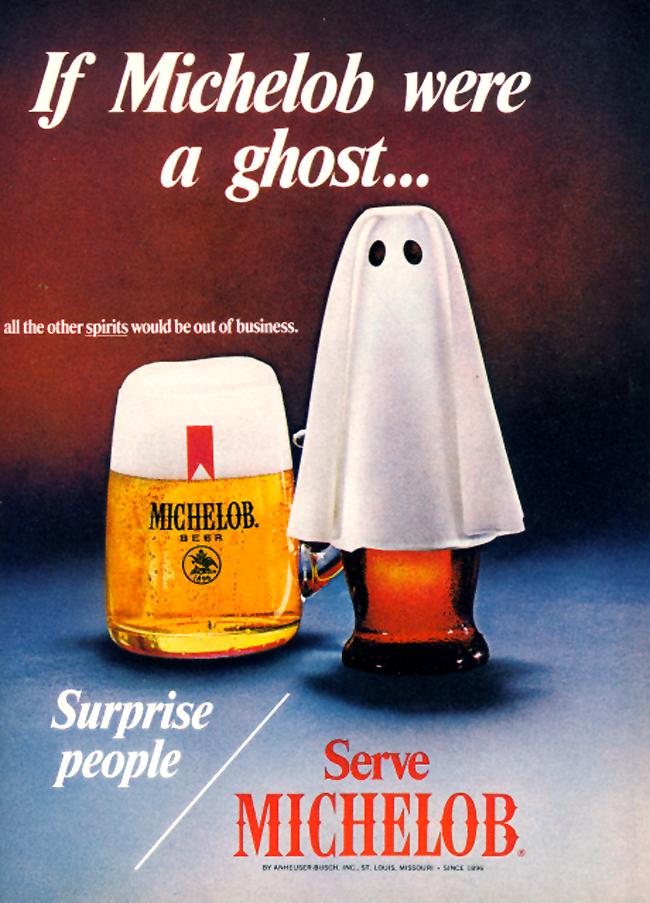 Vintage Halloween Ad - Michelob
