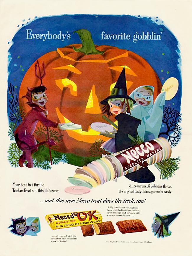Vintage Halloween Ad - Necco