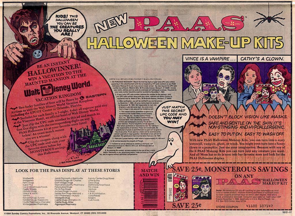 Vintage Halloween Ad - Paas
