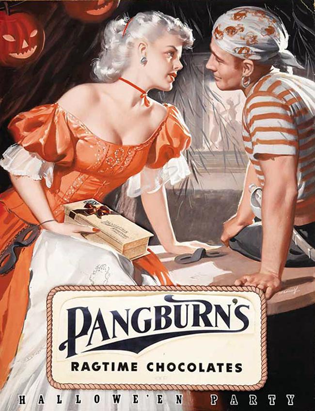 Vintage Halloween Ad - Pangburn's Ragtime Chocolates