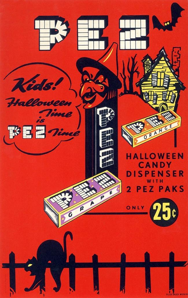 Vintage Halloween Ad - Pez