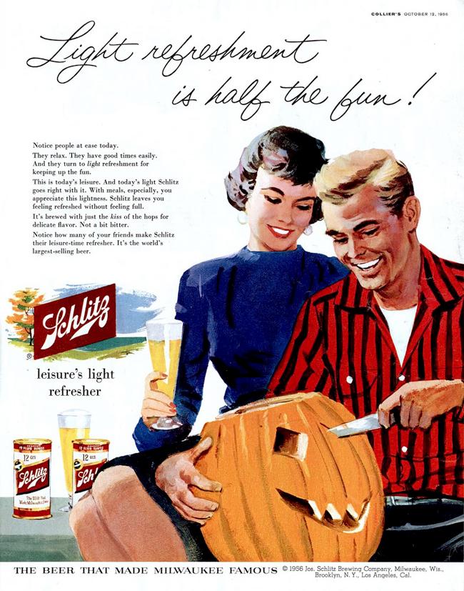 Vintage Halloween Ad - Schlitz