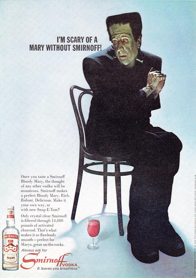 Vintage Halloween Ad - Smirnoff