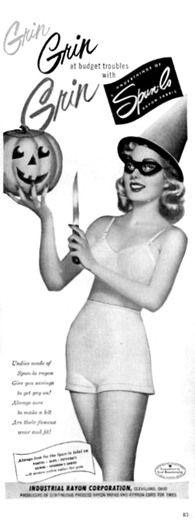 Vintage Halloween Ad - Spun-Lo