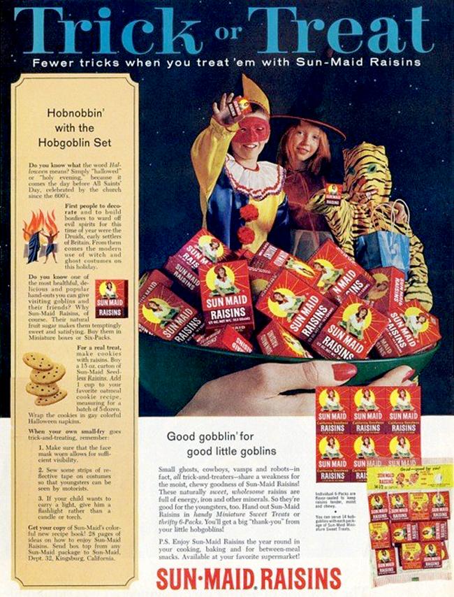 Vintage Halloween Ad - Sun Maid Raisins
