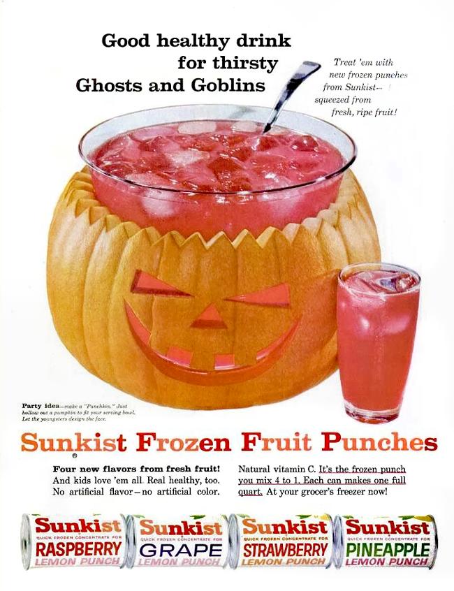 Vintage Halloween Ad - Sunkist