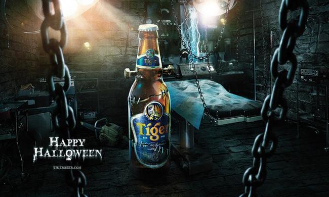 Vintage Halloween Ad - Tiger Beer