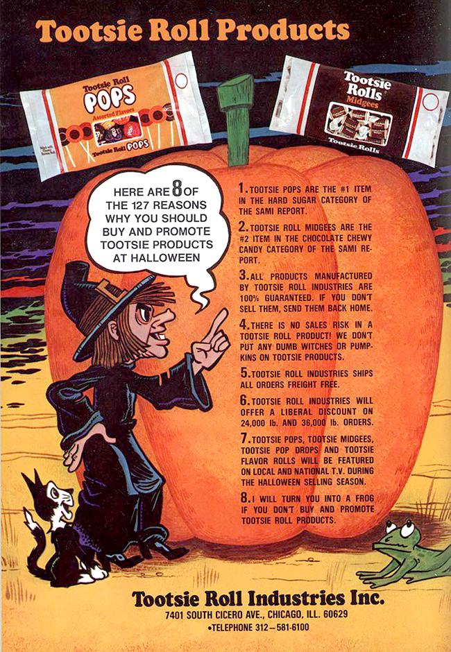 Vintage Halloween Ad - Tootsie Pops