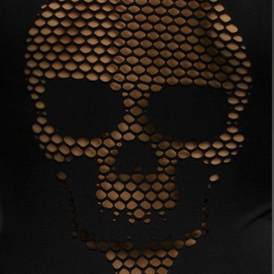 Skull Back Garter Chemise