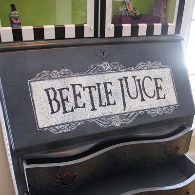 Tim Burton's Beetlejuice Inspired Cabinet