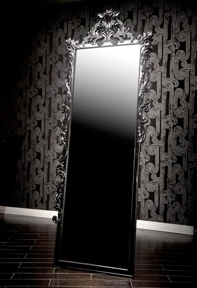 Black Baroque Dressing Mirror