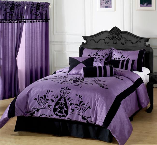 Violeta with Black Floral Flocking